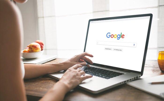 Google Search laptop